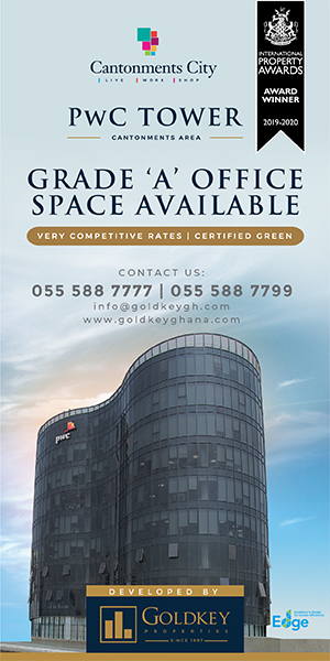 GRADE 'A' OFFICES IN ACCRA'S MOST ELITE BUSINESS DISTRICT! CALL GOLDKEY PROPERTIES TODAY!!!