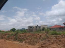 serviced land for sale at Oyibi  valley view univertsity -certify
